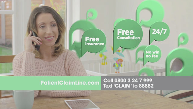 Patient Claim Line advert 2014 – 2015